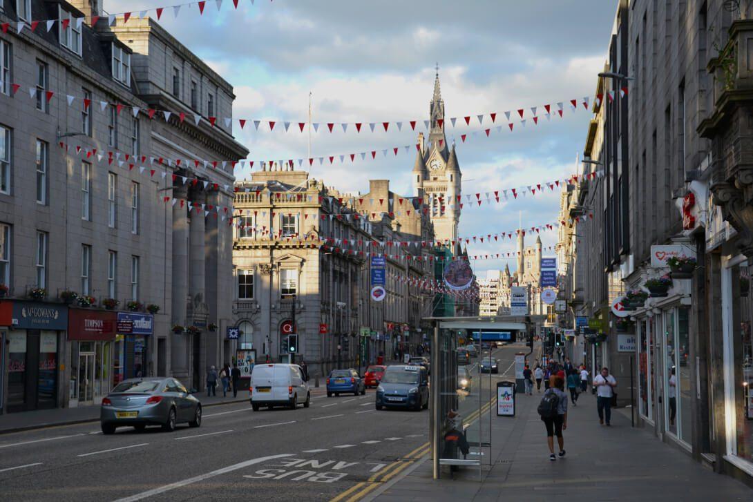 Centrum miasta w Aberdeen