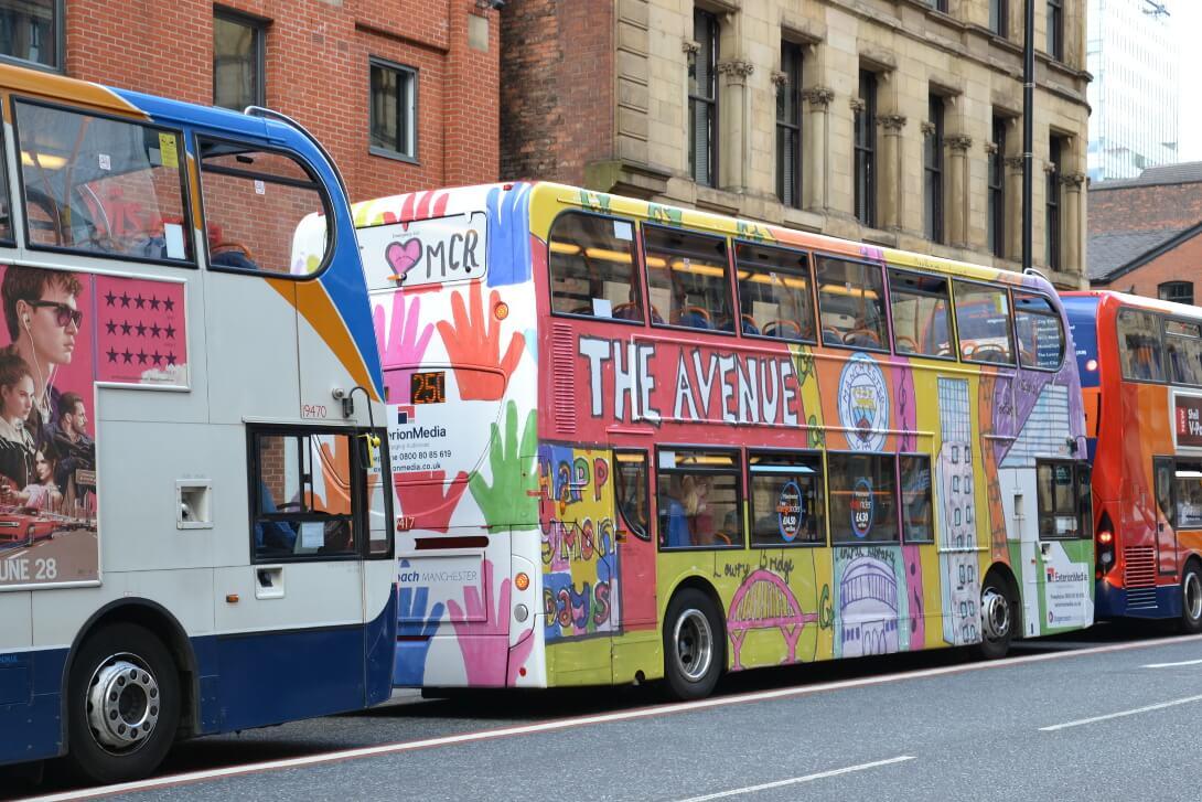 Autobus w Manchester