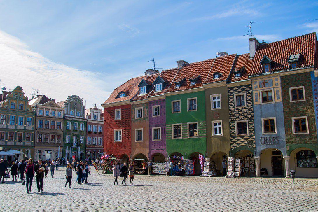 Domki budników na Rynku