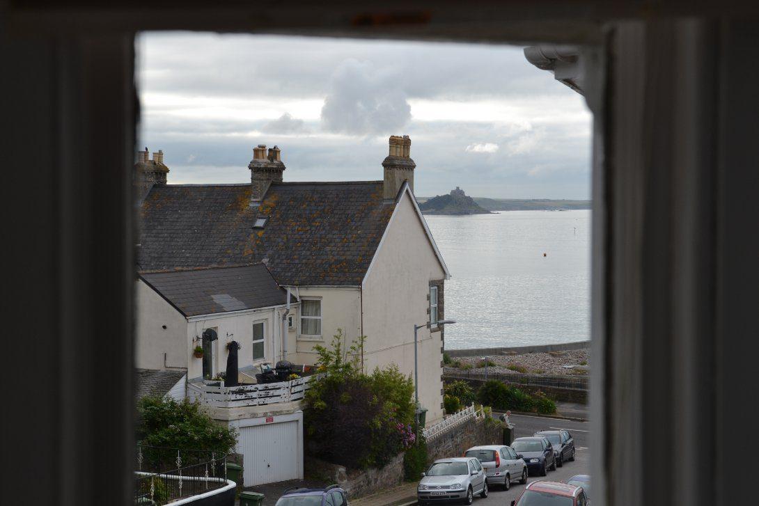Widok z okna hostelu.