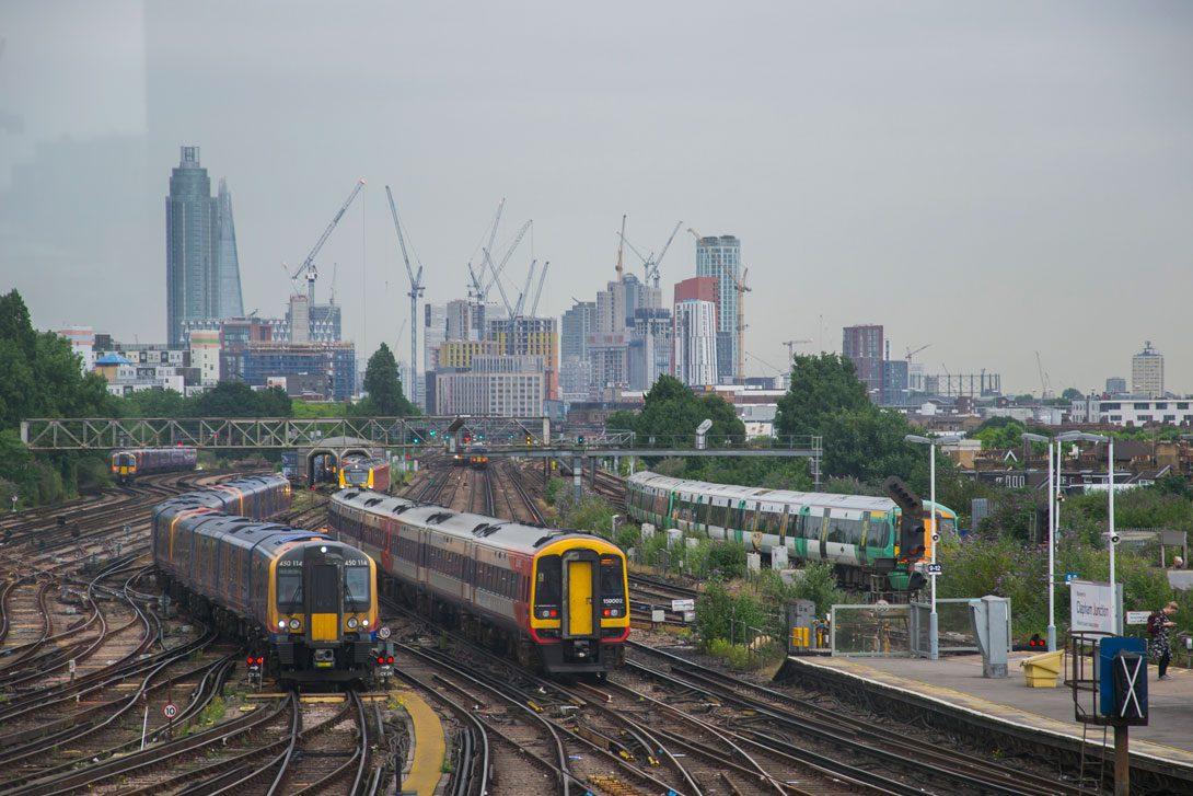 Widok na Londyn z Clapham Junction