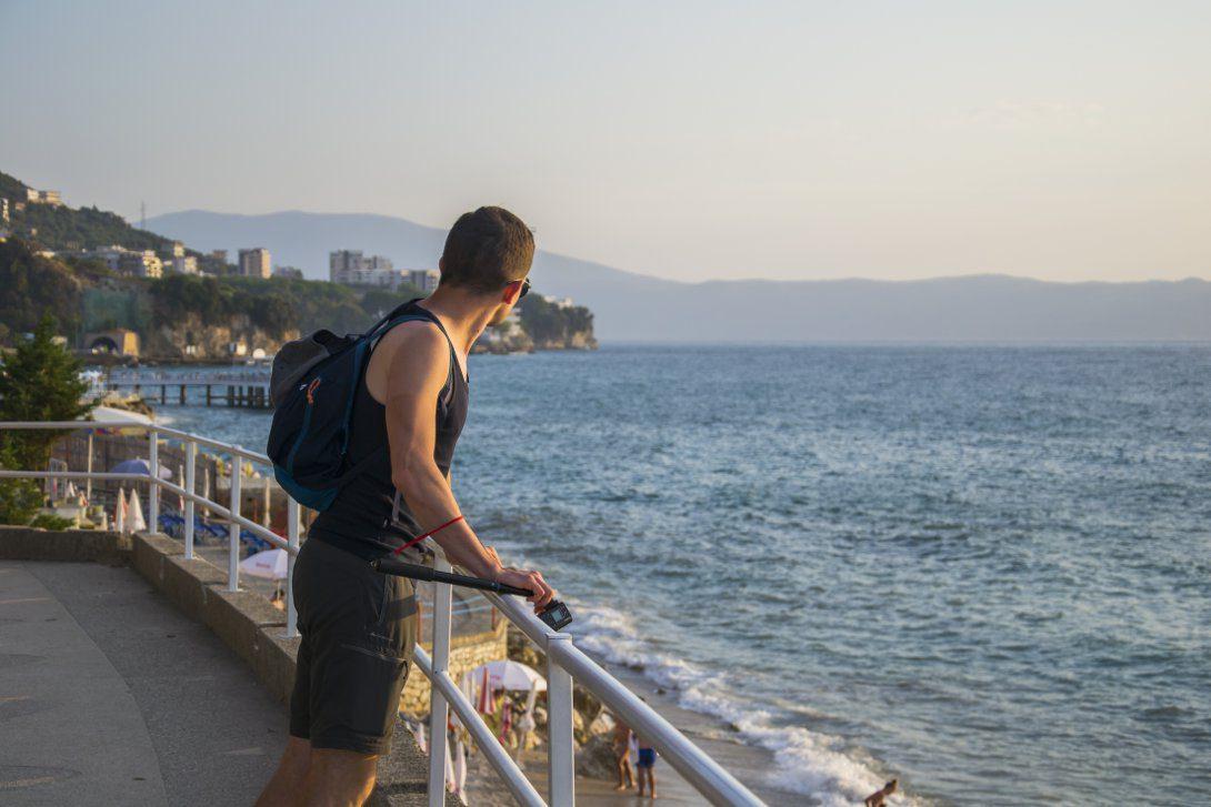 Widok na morze w okolicach Vlory