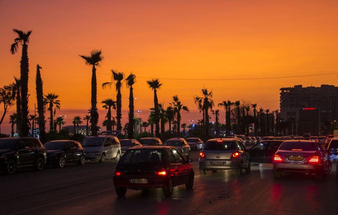 Zachód słońca nad Durres