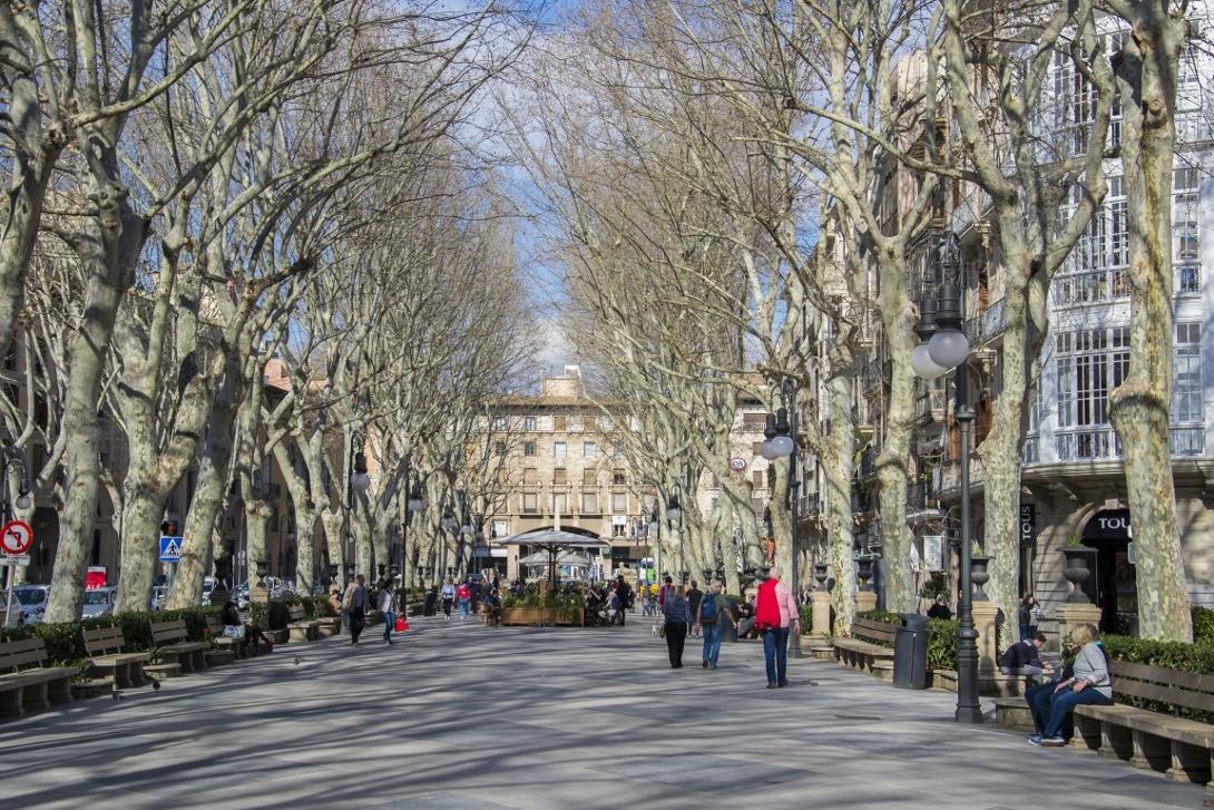 Ulice Palma de Mallorca.