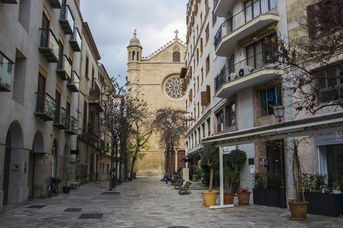 Uliczki Palmy de Mallorca.