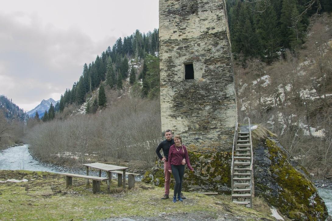 Jedna z wież strażniczych w Swanetii