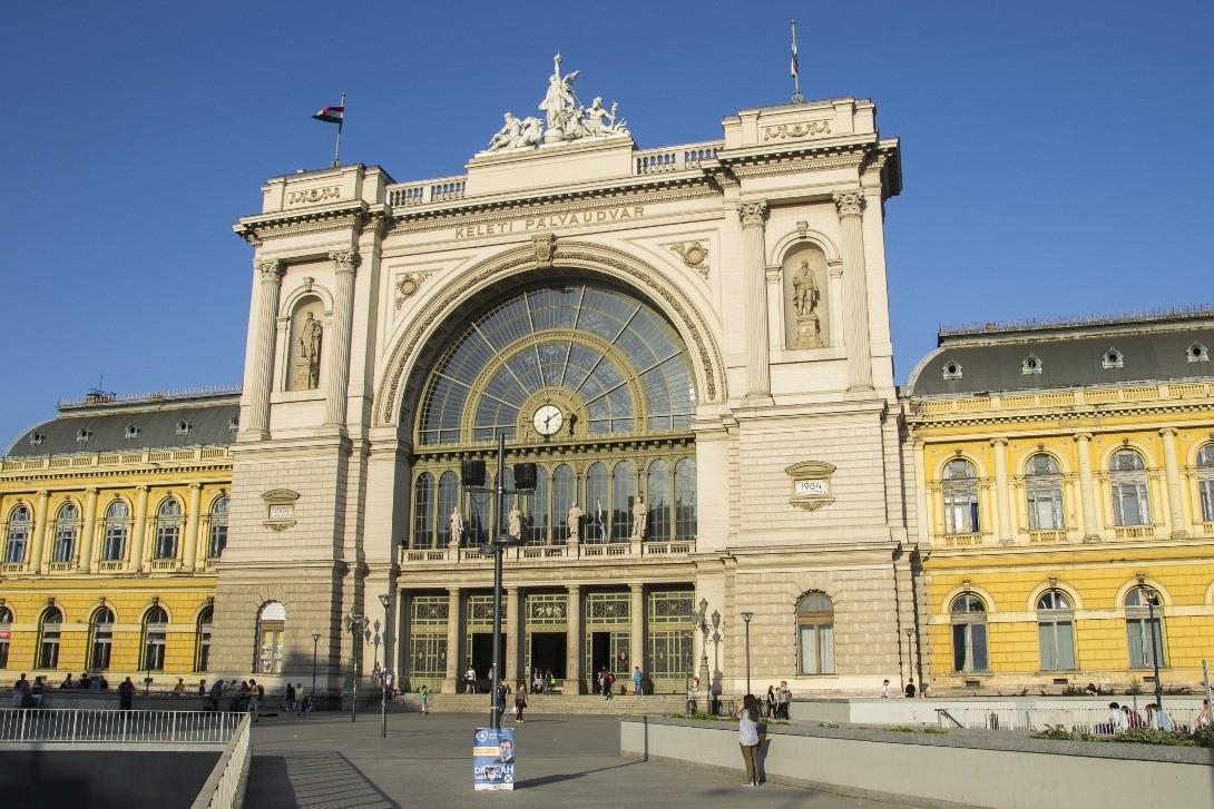 Budynek dworca Budapeszt Keleti.