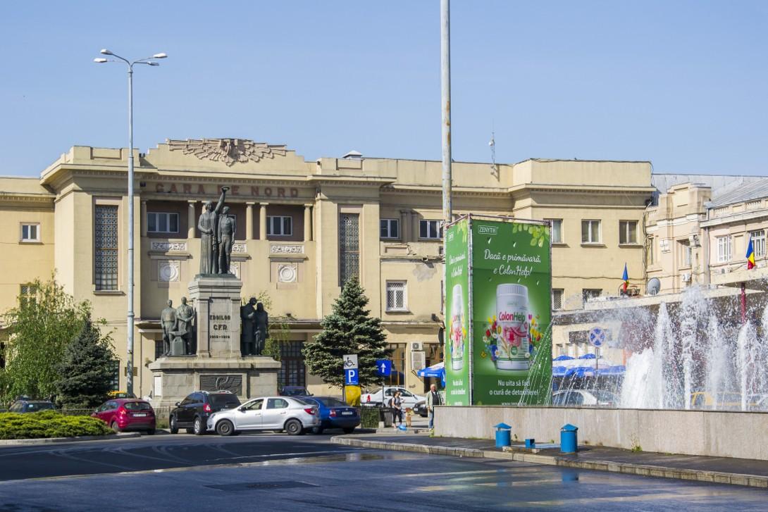 Budynek dworca kolejowego Nord w Bukareszcie.
