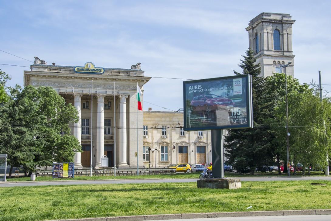 Budynek dworca kolejowego w Ruse.
