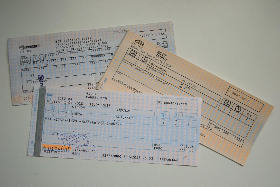 Bilety z Budapesztu do Stambułu przez Bukareszt i Sofię.