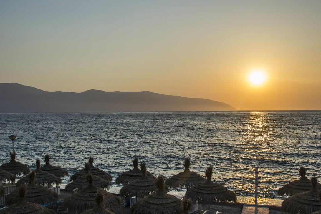 Zachód słońca nad Vlore