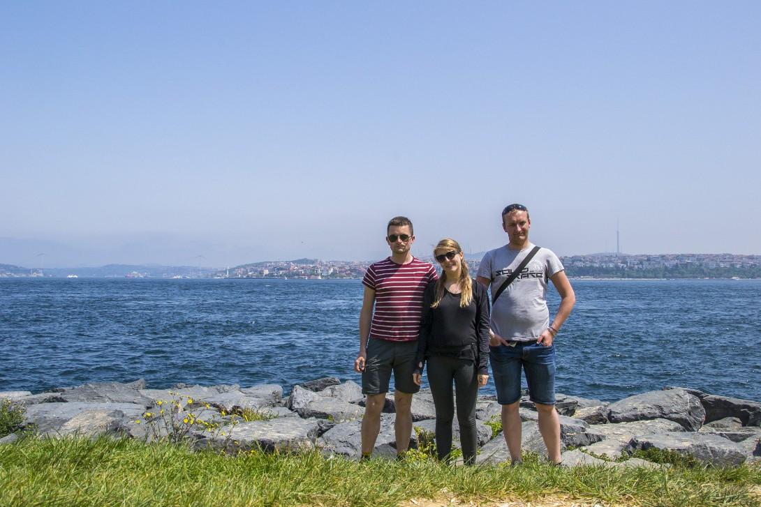 Widok cieśniny Bosfor w Stambule