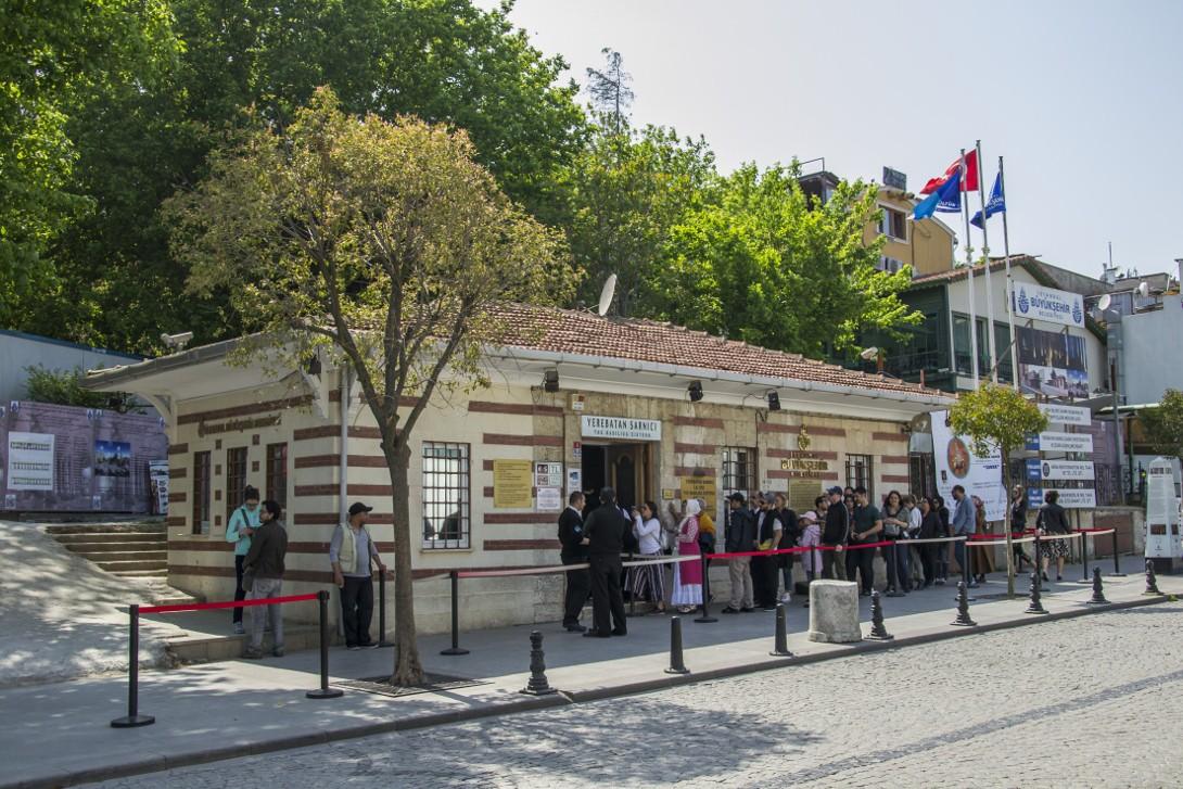 Wejście do Cysterny Bazyliki w Stambule