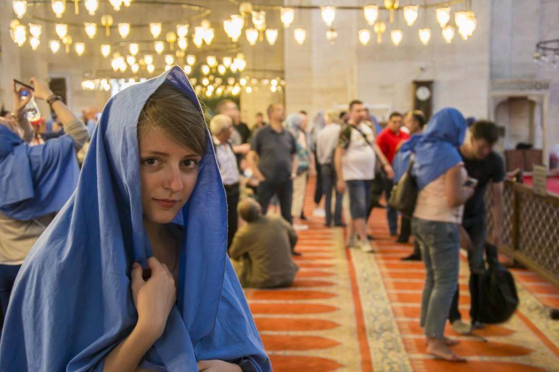 Natalia w meczecie Sulejmana w Stambule