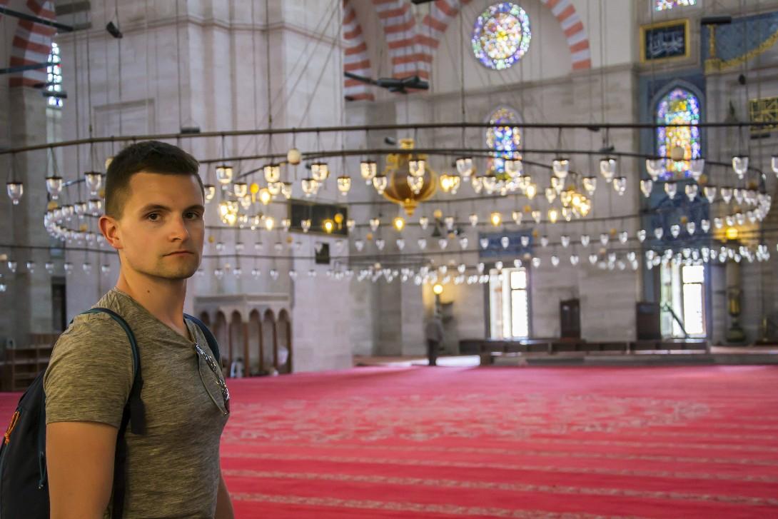 Bartek w meczecie Sulejmana w Stambule