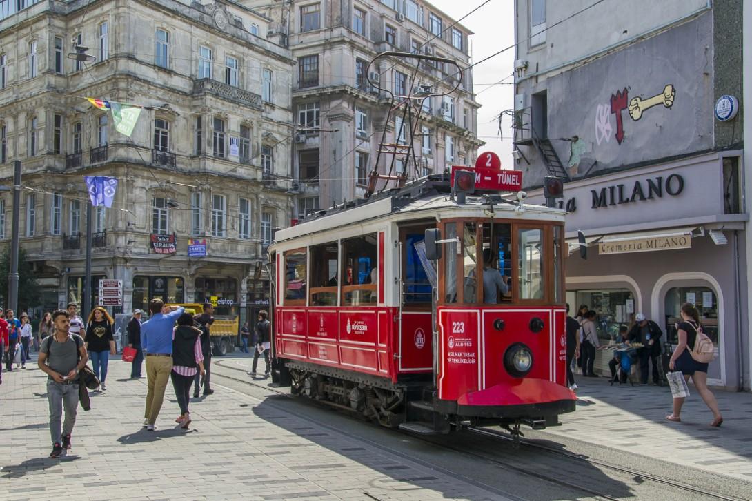 Nostalgiczny Tramwaj na plac Taksim