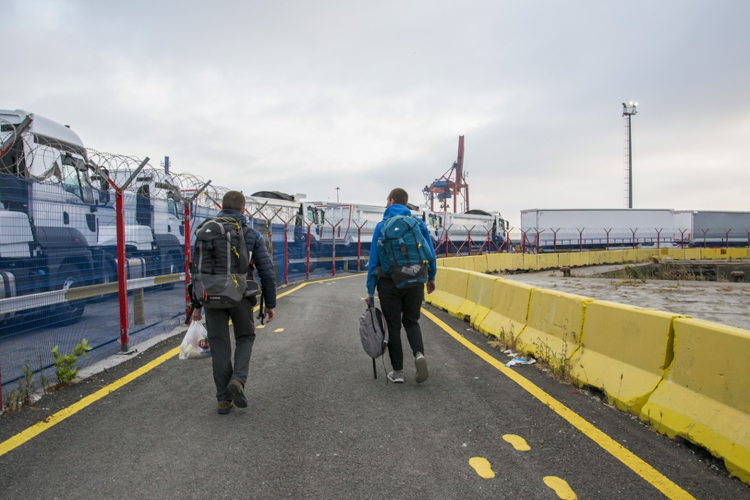 Wejście na pokład statku Kaunas Seeways