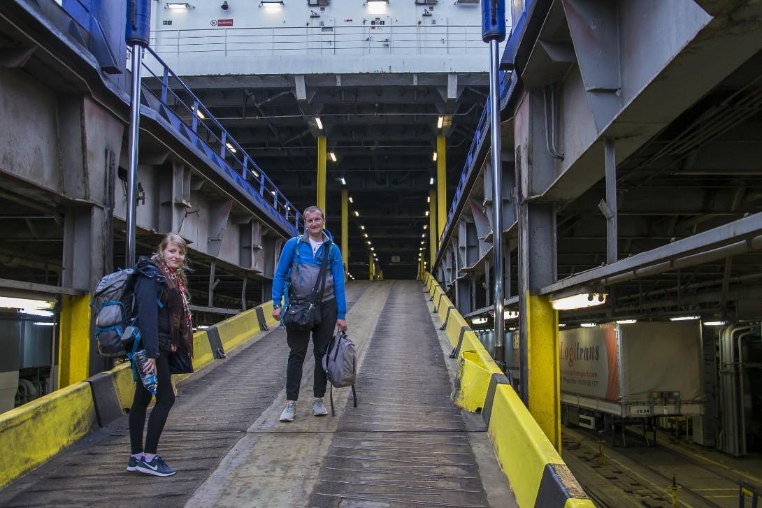 Wejście na pokład Kaunas Seeways