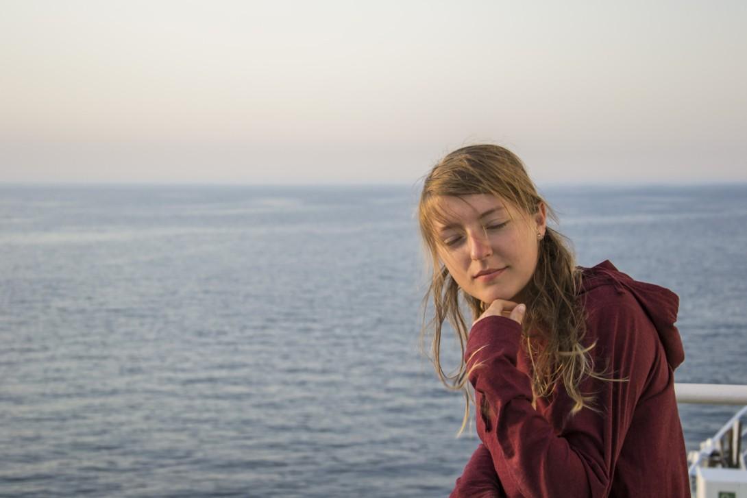 Natalia na pokładzie Kaunas Seeways w rejsie do Odessy