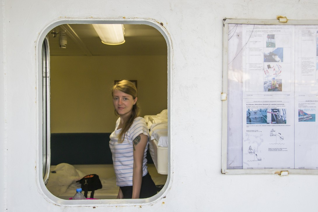 Natalia w kajucie Kaunas Seeways - rejs ze Stambułu do Odessy