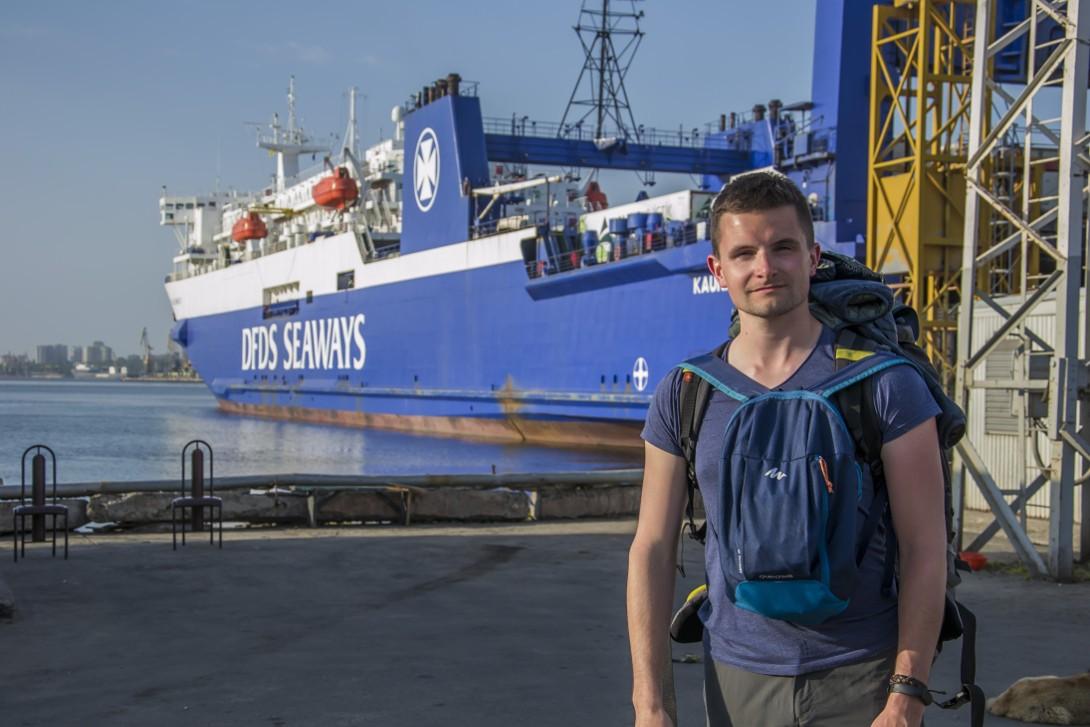 Statek Kaunas Seeways w porcie Czarnomorsk (Odessa)