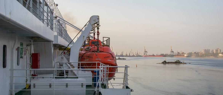 Widok na port Czarnomorsk