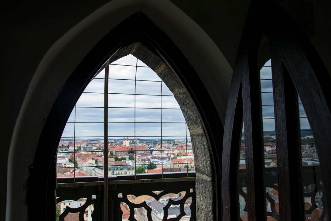 Widok z wieży widokowej na rynku - Pilzno