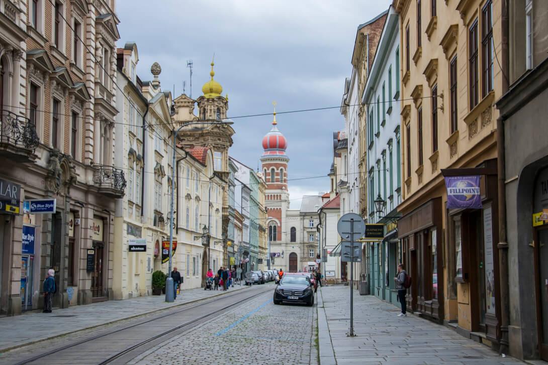 Widok na Wielką Synagogę - Pilzno