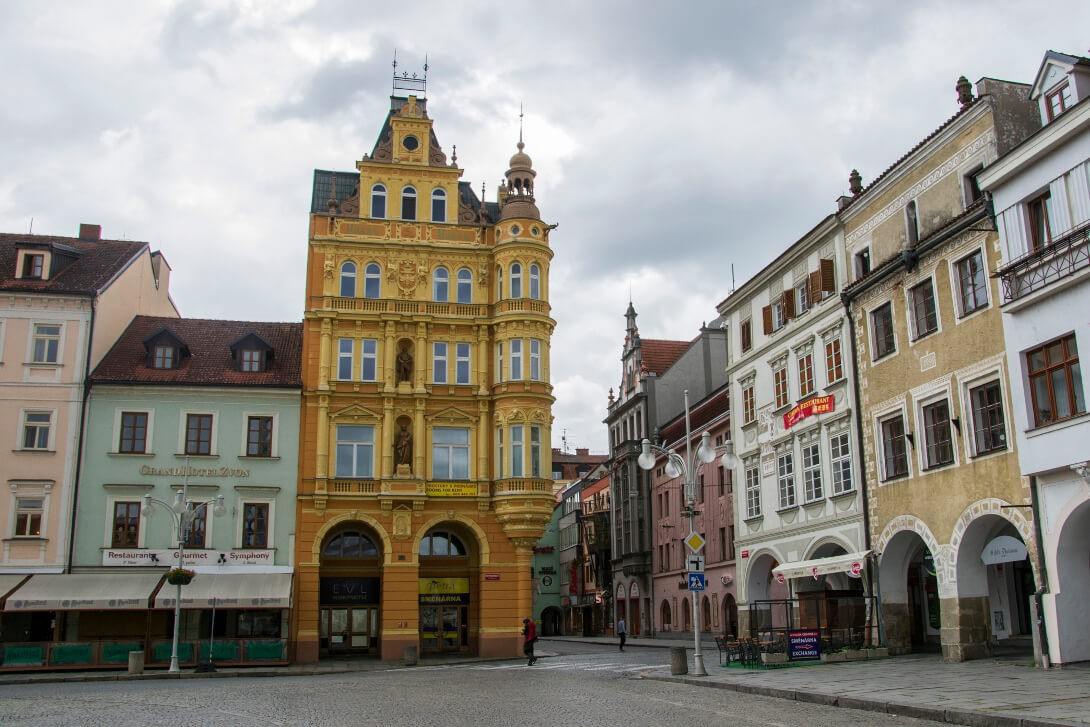 Kamienice na placu Ottokara - Czeskie Budziejowice
