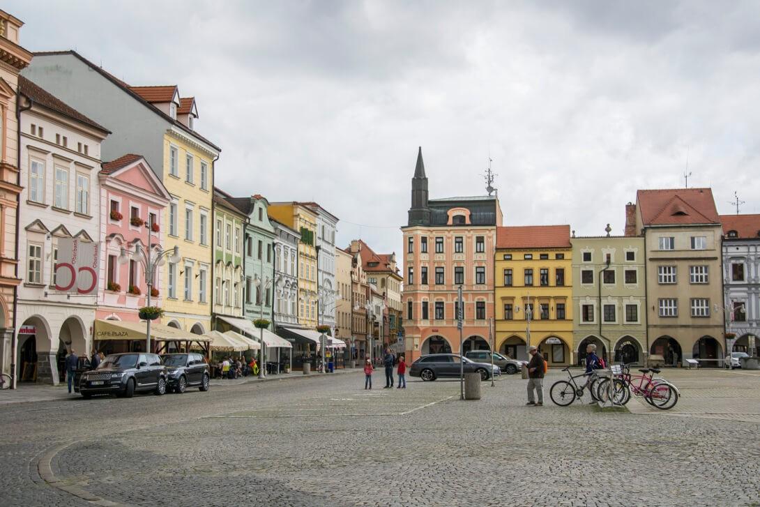 Kamienice placu Ottokara - Czeskie Budziejowice