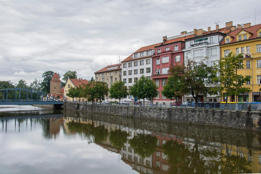 Wełtawa płynąca przez Czeskie Budziejowice