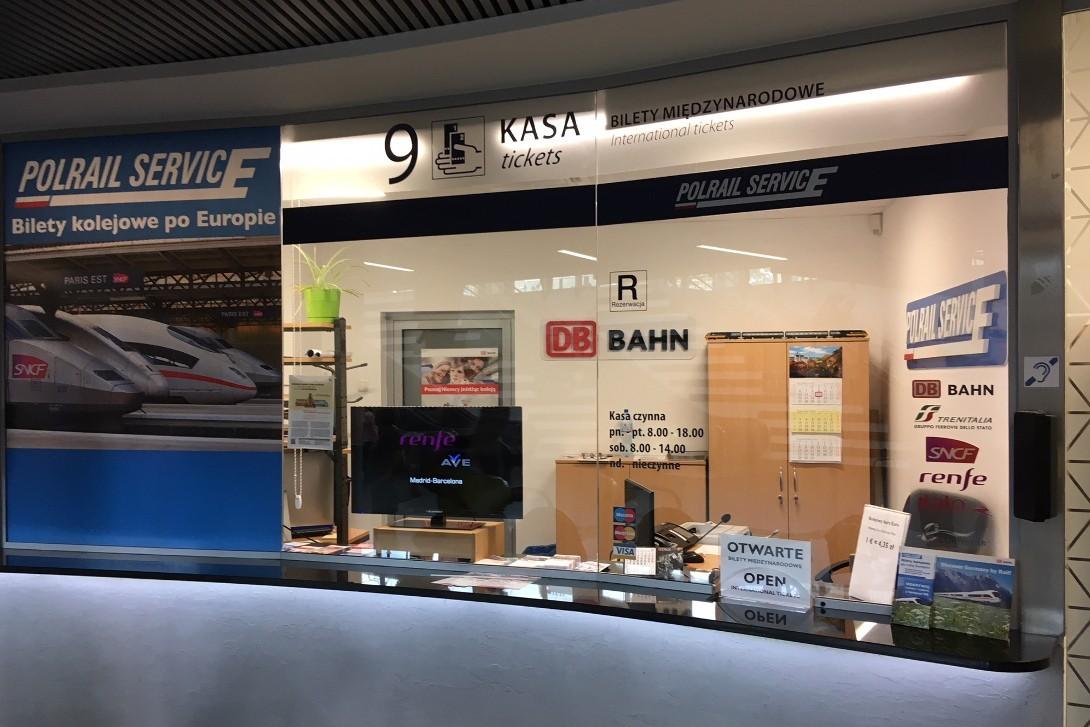 Okienko kasowe Polrail Service w Bydgoszczy