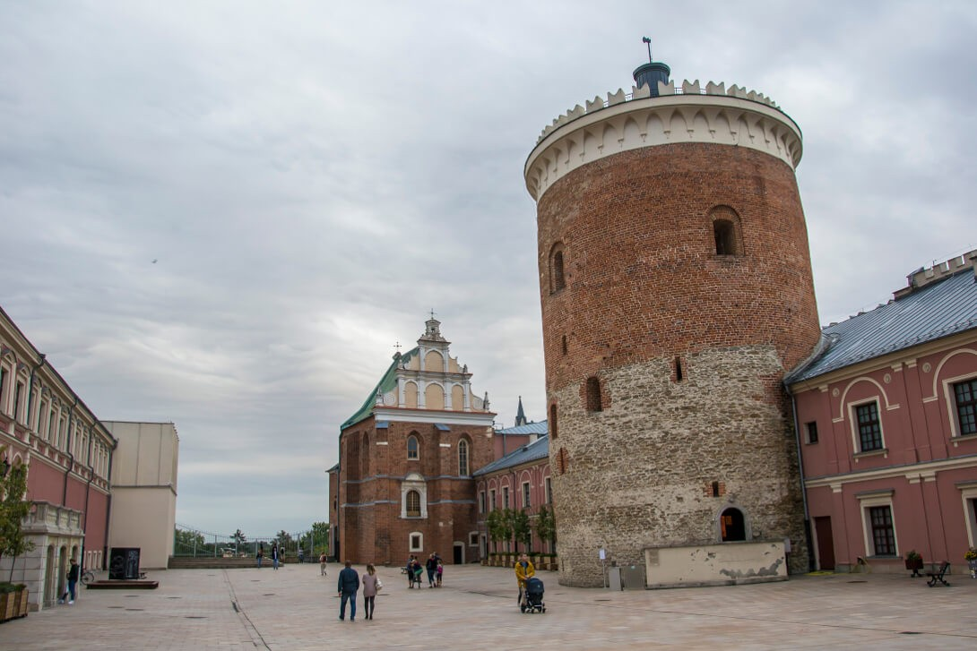 Donżon i dziedziniec Zamku Lubelskiego w Lublinie