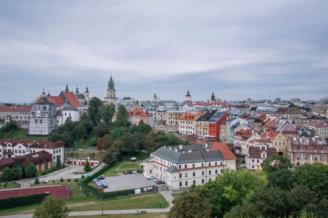 Widok na Lublin z donżonu Zamku Lubelskiego w Lublinie