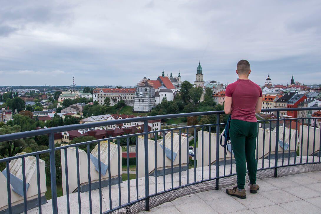 Widok z donżonu zamku w Lublinie