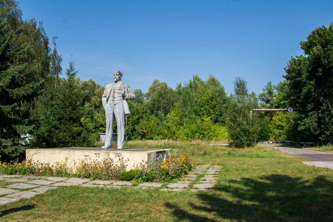 Pomnik Lenina w Czarnobylu