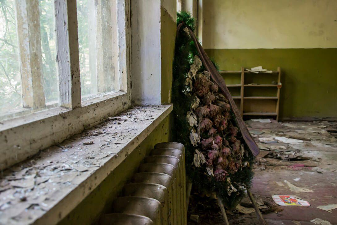 Wnętrze opuszczonego przedszkola w Czarnobylu