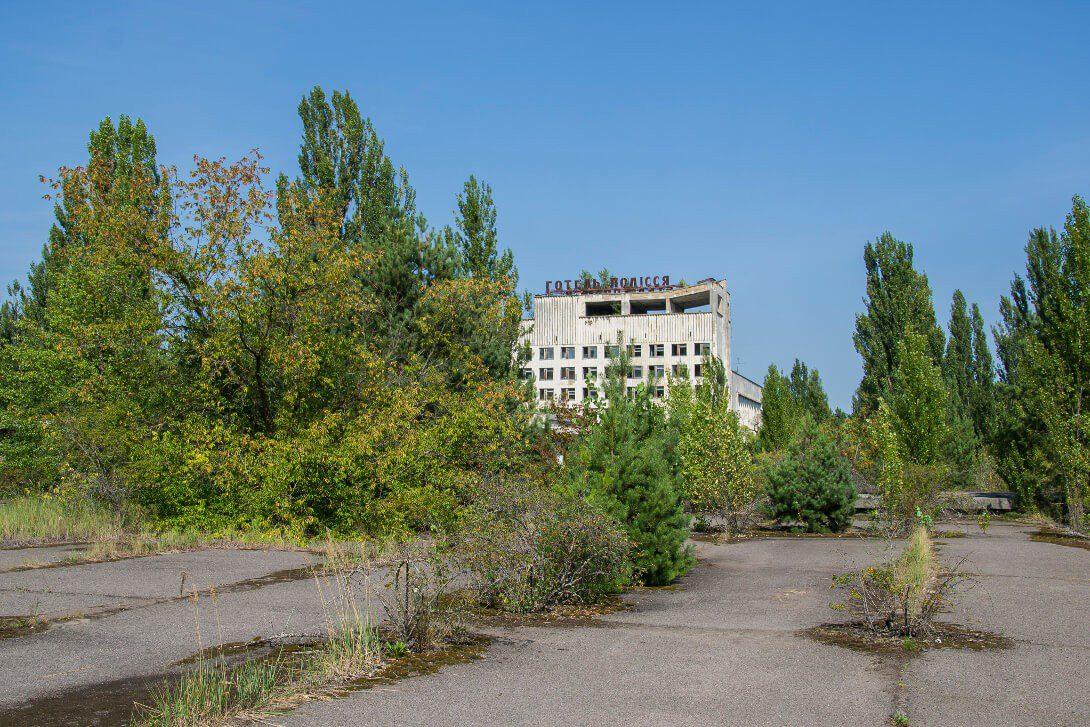 Opuszczony hotel Polesie w Prypeci