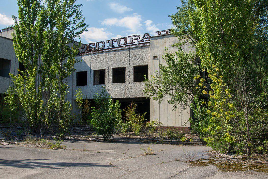 Opuszczona restauracja w centrum Prypeci