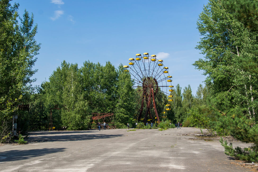 Diabelski Młyn w parku rozrywki w Prypeci