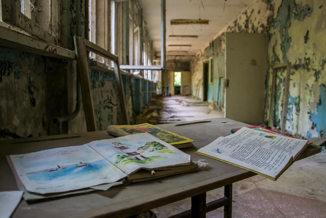 Opuszczona szkoła podstawowa w Prypeci