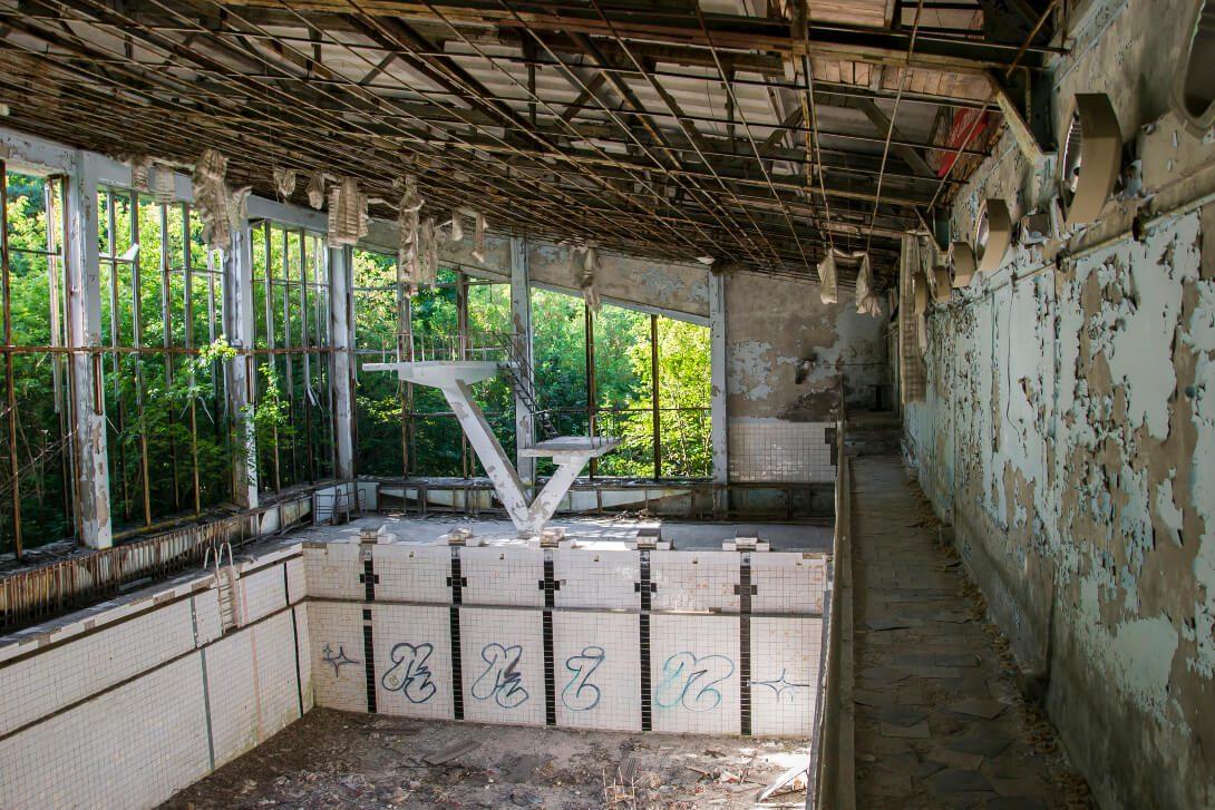 Opuszczony basen w Prypeci