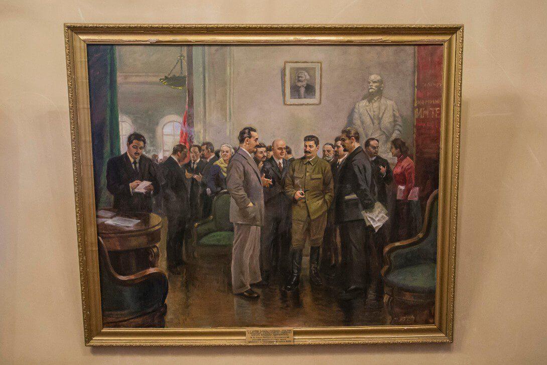 Obrazy w Muzeum Stalina w Gori