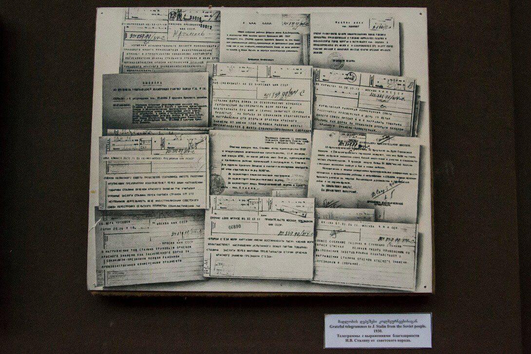Pochwalne telegramy do Stalina