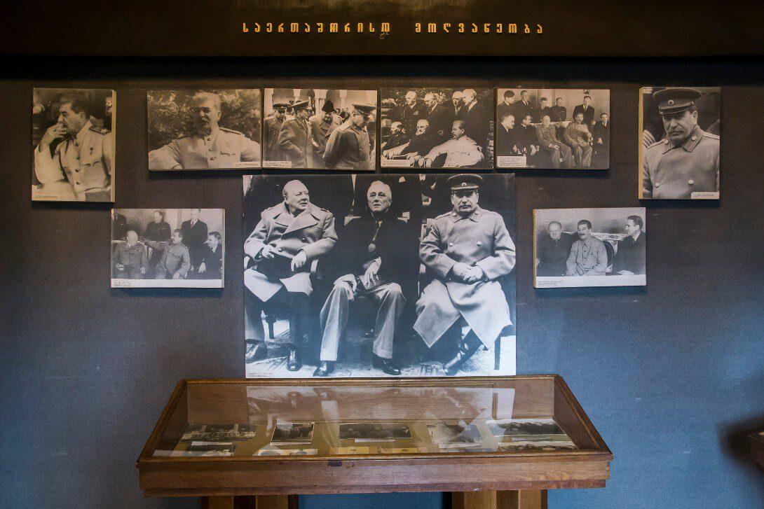 Zdjęcie z Churchillem i Stalinem