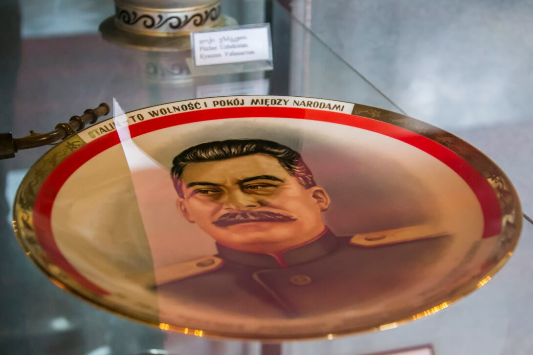 Pamiątkowy talerz jako prezent od Polaków dla Stalina