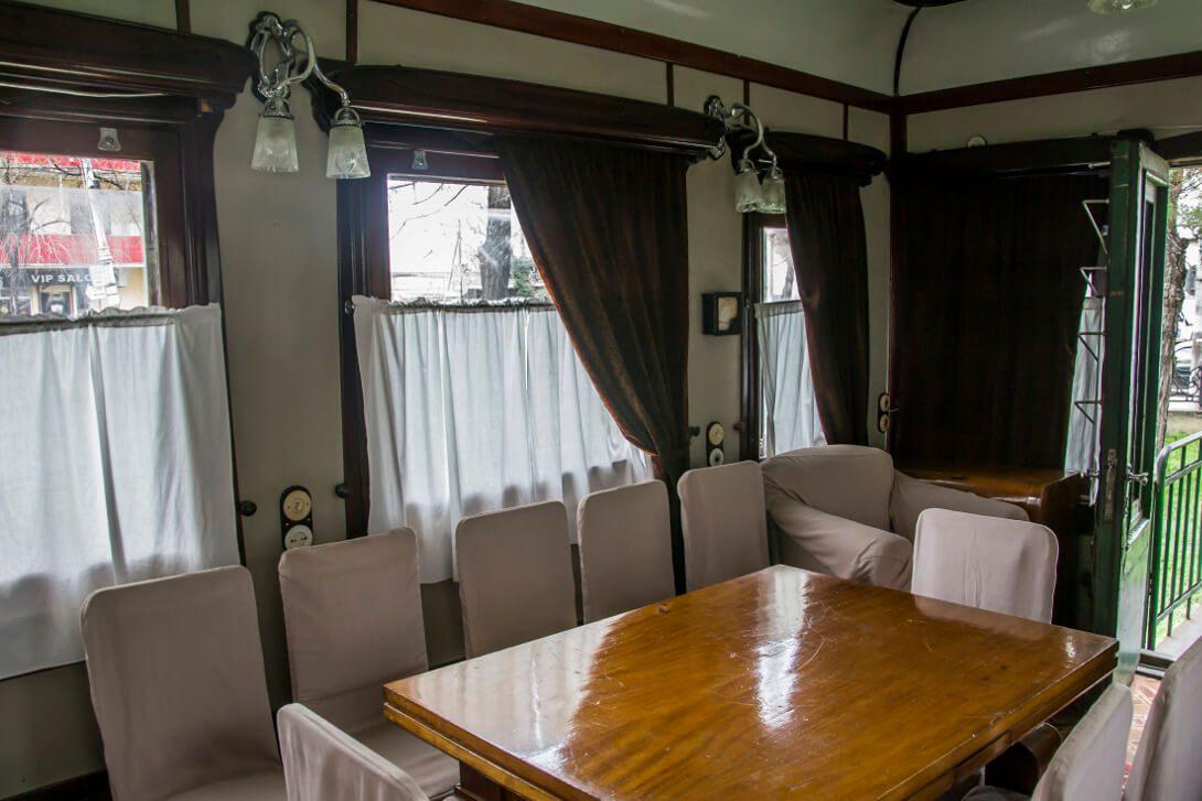 Wnętrze wagonu - salonki Stalina