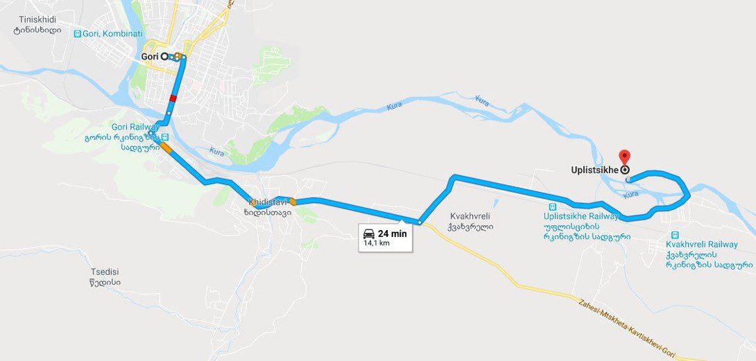 Dojazd z Gori do Uplisciche
