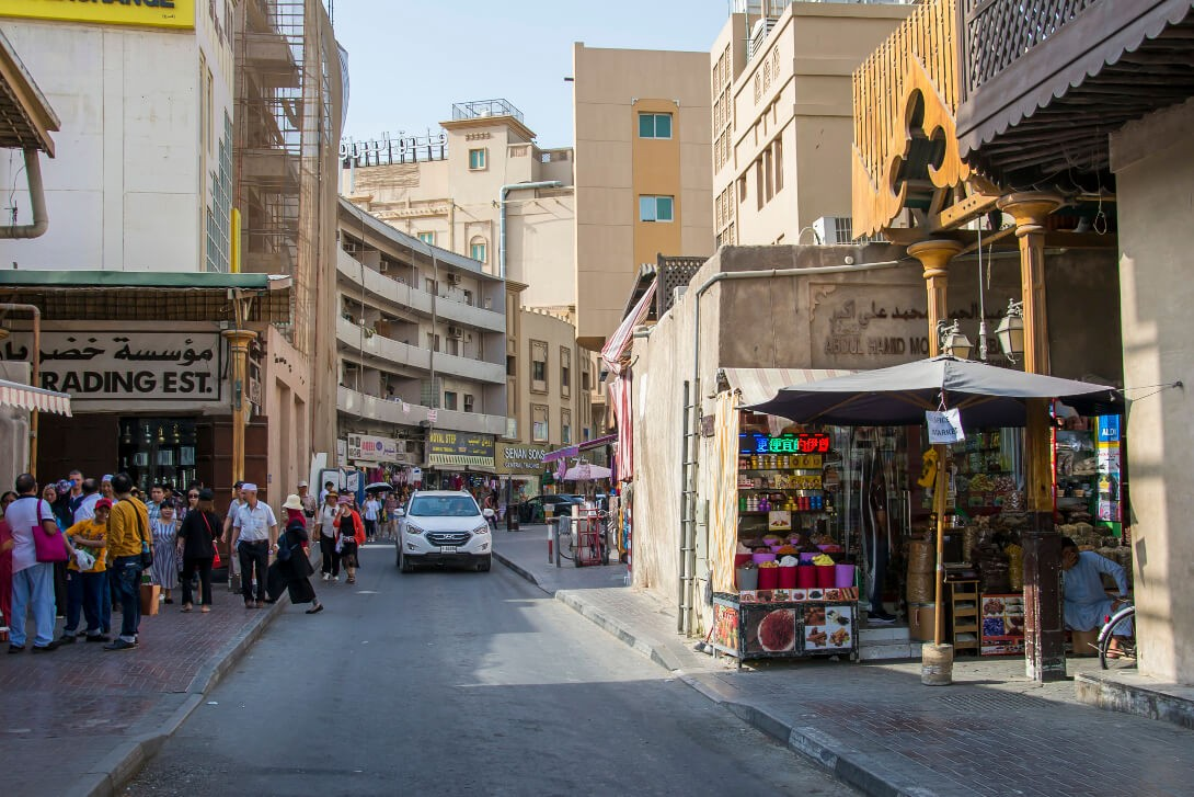 Uliczki dzielnicy Deira w Dubaju