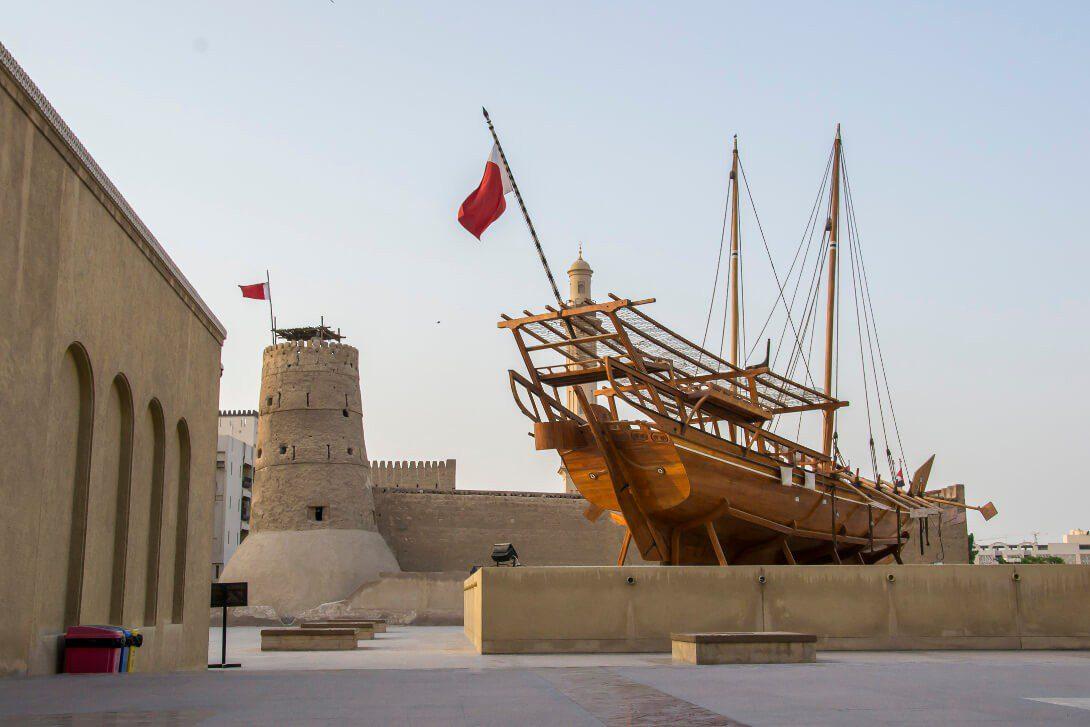 Dhow przed Dubai Museum